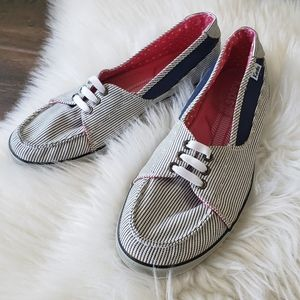 B2G1 Keds Causal Striped Slip On Boat Shoes
